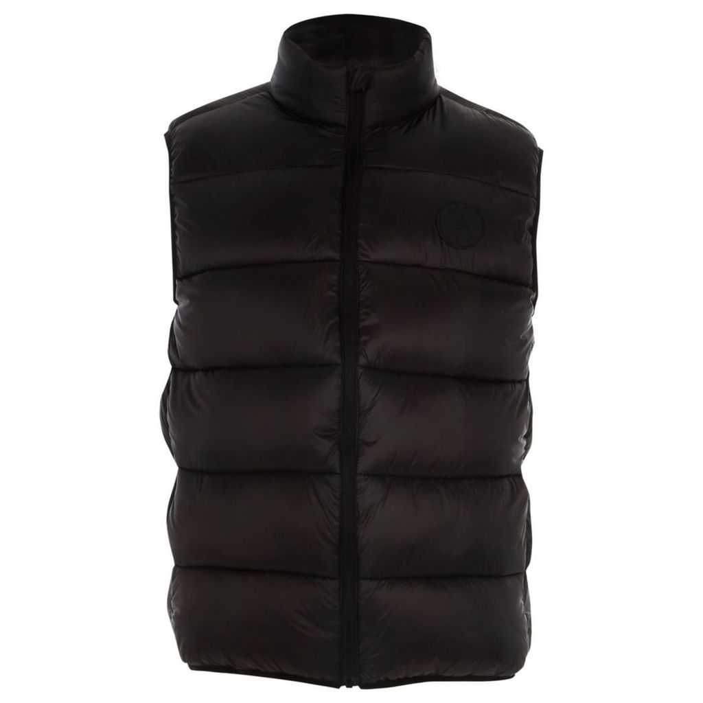 River Island Mens Big and Tall Black puffer gilet