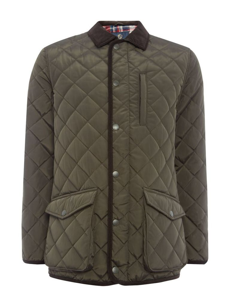Men's Howick The Pembroke Quilted Jacket, Evergreen