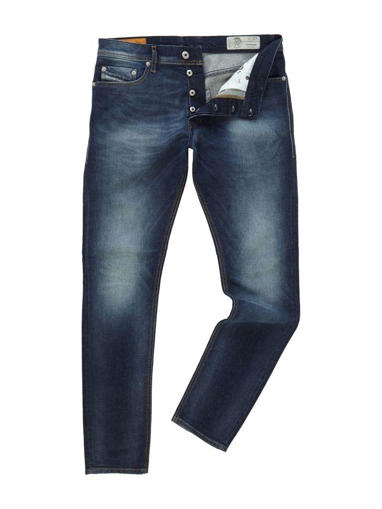 Men's Diesel Tepphar 853R Slim Carrot Fit Jeans, Denim Mid Wash