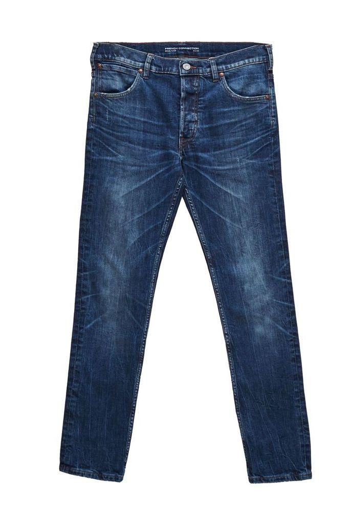 Men's French Connection 72-Denim Stretch Indigo Slim Fit Jeans, Ink