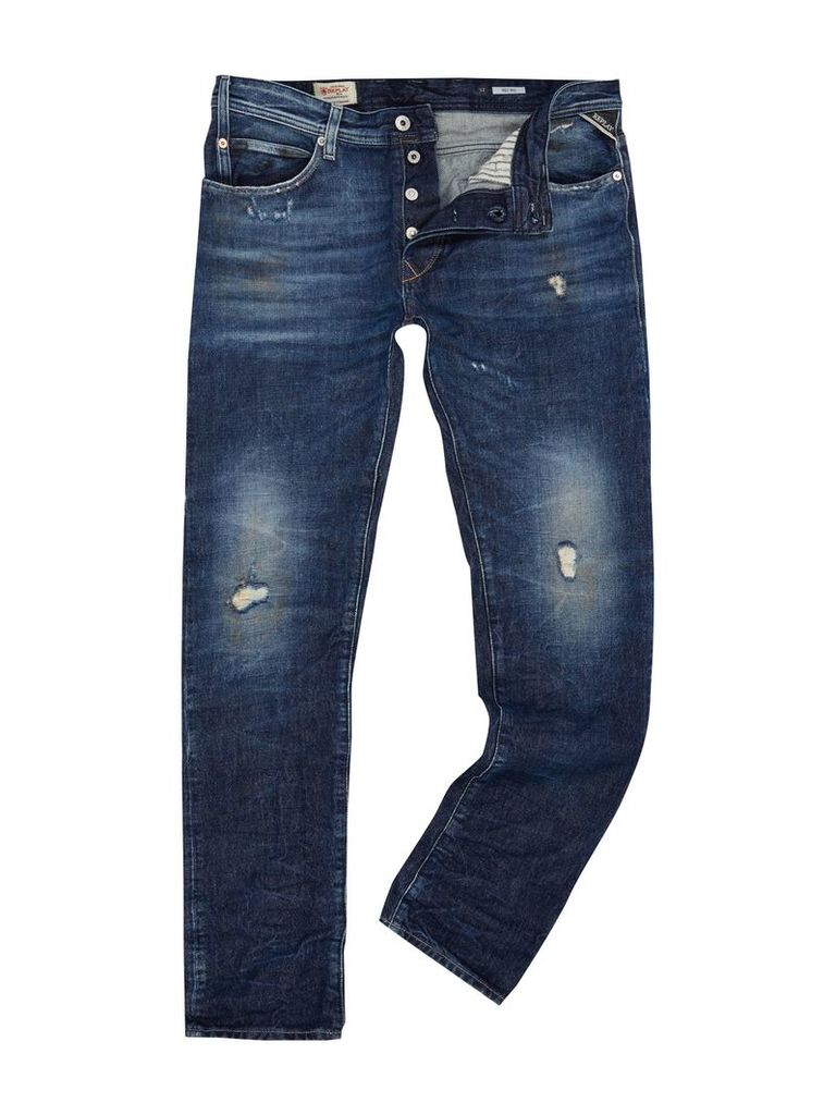 Men's Replay RBJ.901 Jeans, Denim Mid Wash