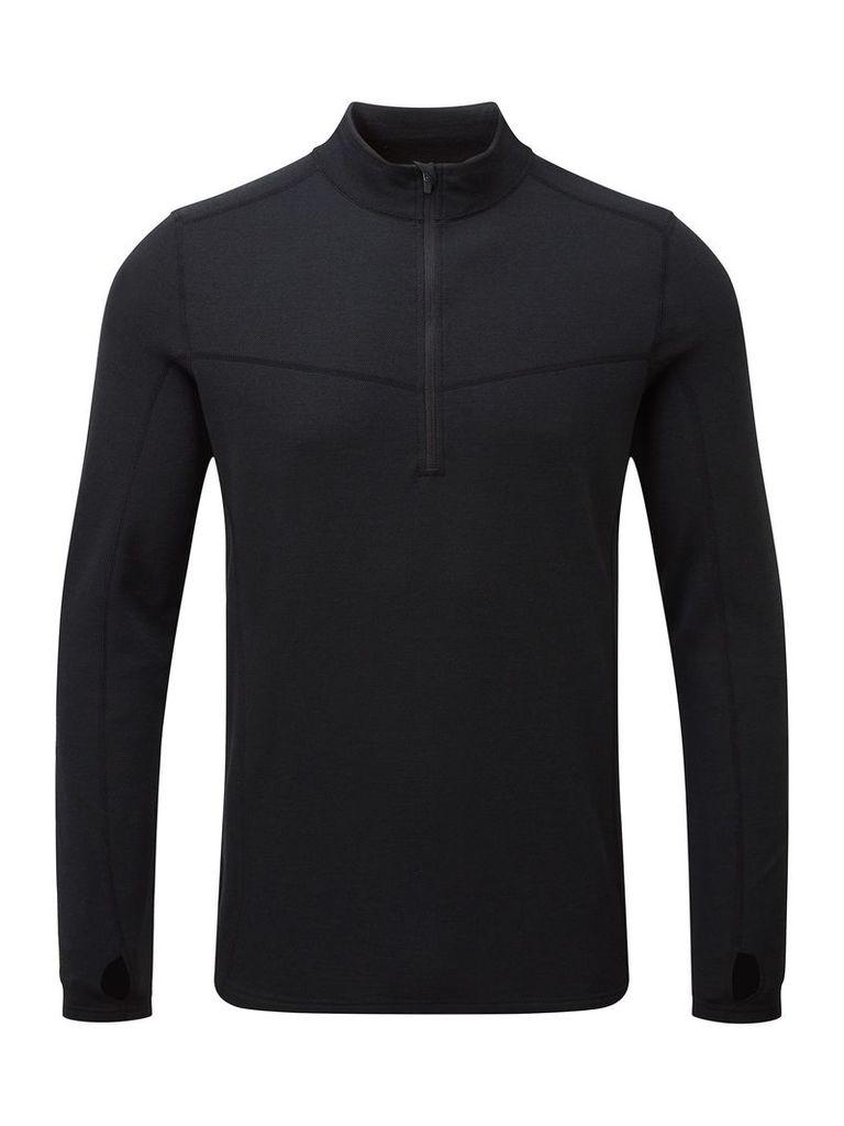 Men's Tog 24 Recreate Mens Tcz Merino Zip Thermal Top, Black