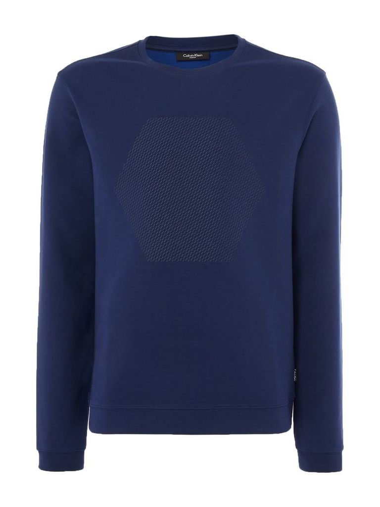 Men's Calvin Klein Kares Lightweight Sweater, Mid Blue