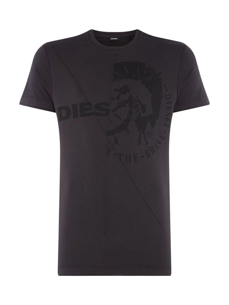Men's Diesel Bravehead Print Tshirt, Black