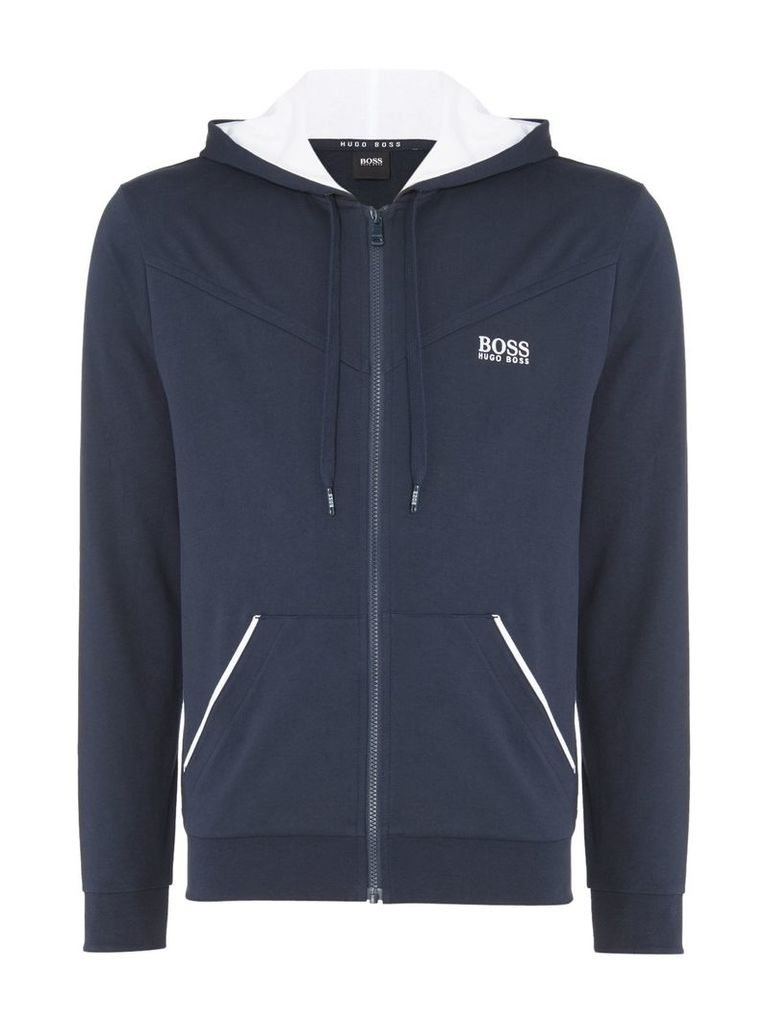 Men's Hugo Boss Chest Logo Hooded Lounge Sweatshirt, Blue