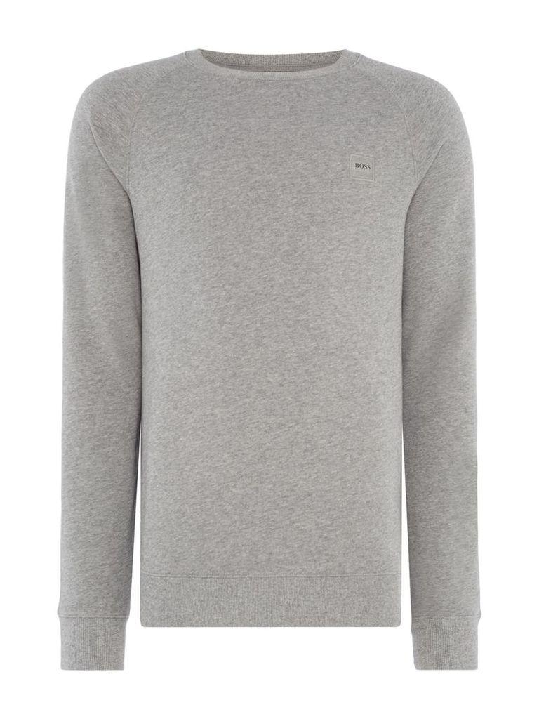 Men's Hugo Boss Wheel UK Crew Neck Sweatshirt, Grey Marl