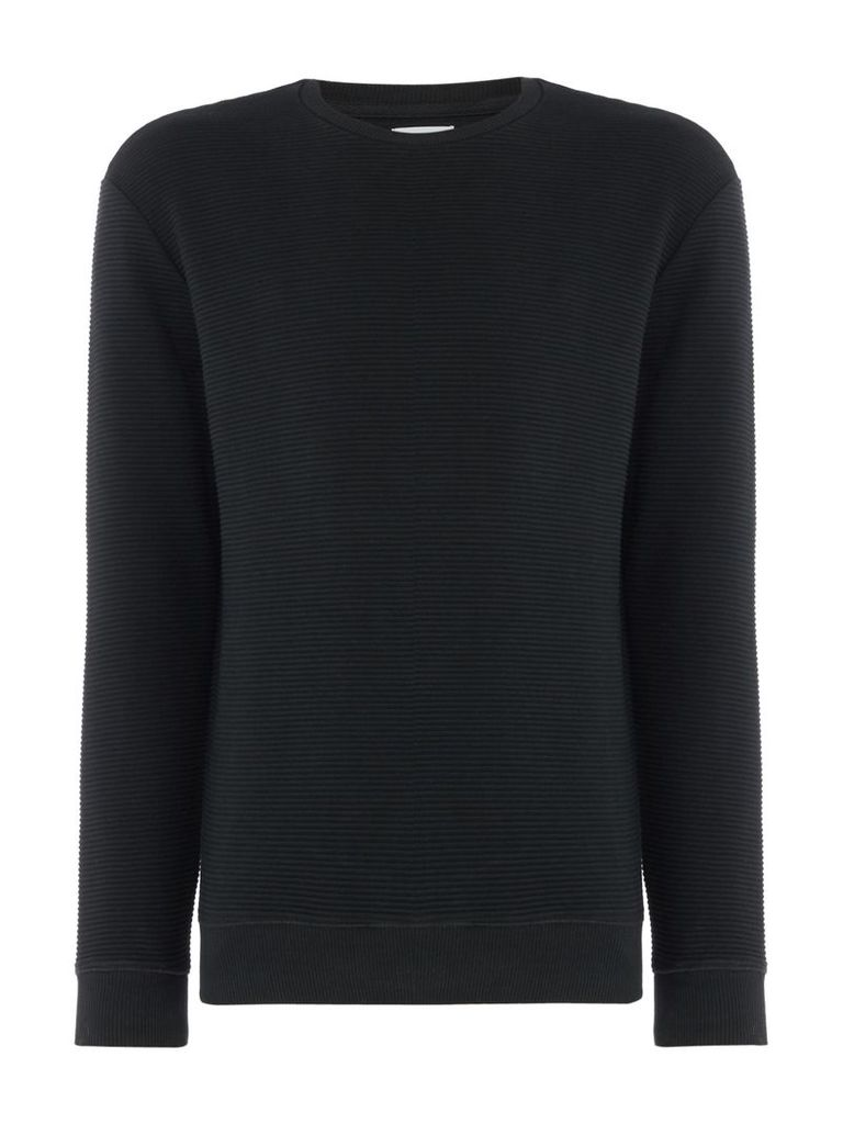 Men's Linea Arnos Ribbed Crew Neck Sweat Top, Forest