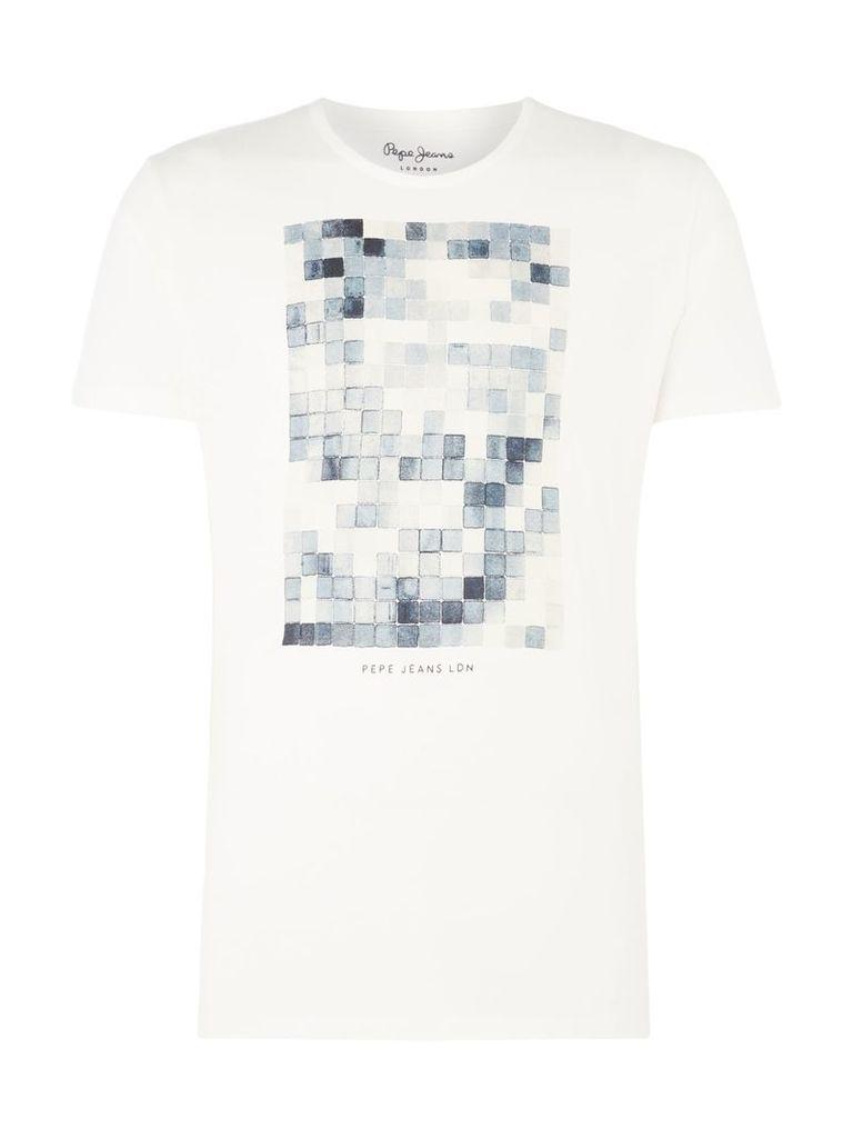 Men's Pepe Jeans Jankel Teepepe Short Sleeve T-Shirt, Off White