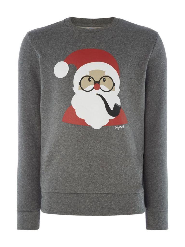 Men's Jack & Jones Christmas Novelty Jumper, Grey