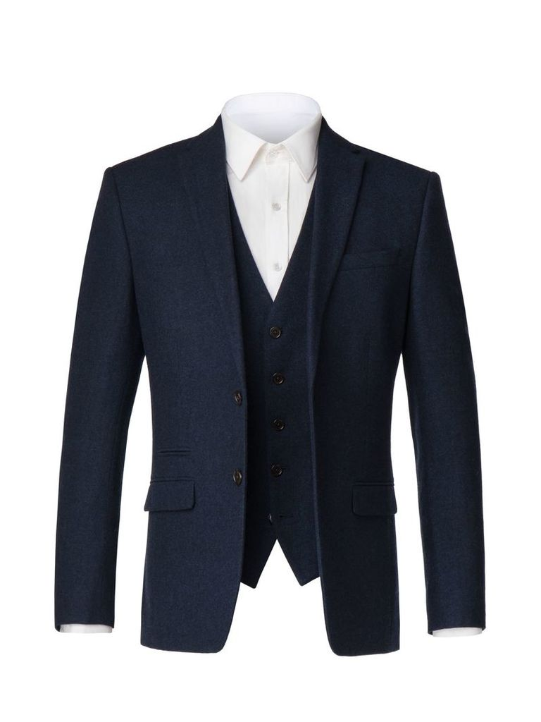 Men's Limehaus Alistar Navy Donegal Jacket, Blue