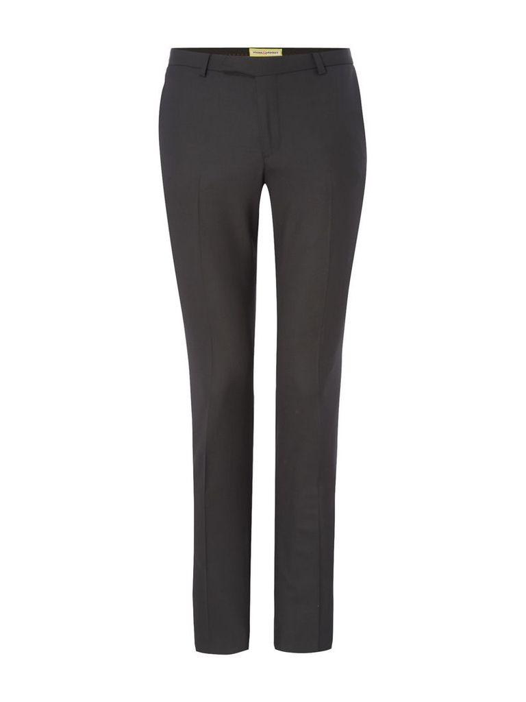 Men's Noose and Monkey Ellroy Skinny Suit Trouser, Black