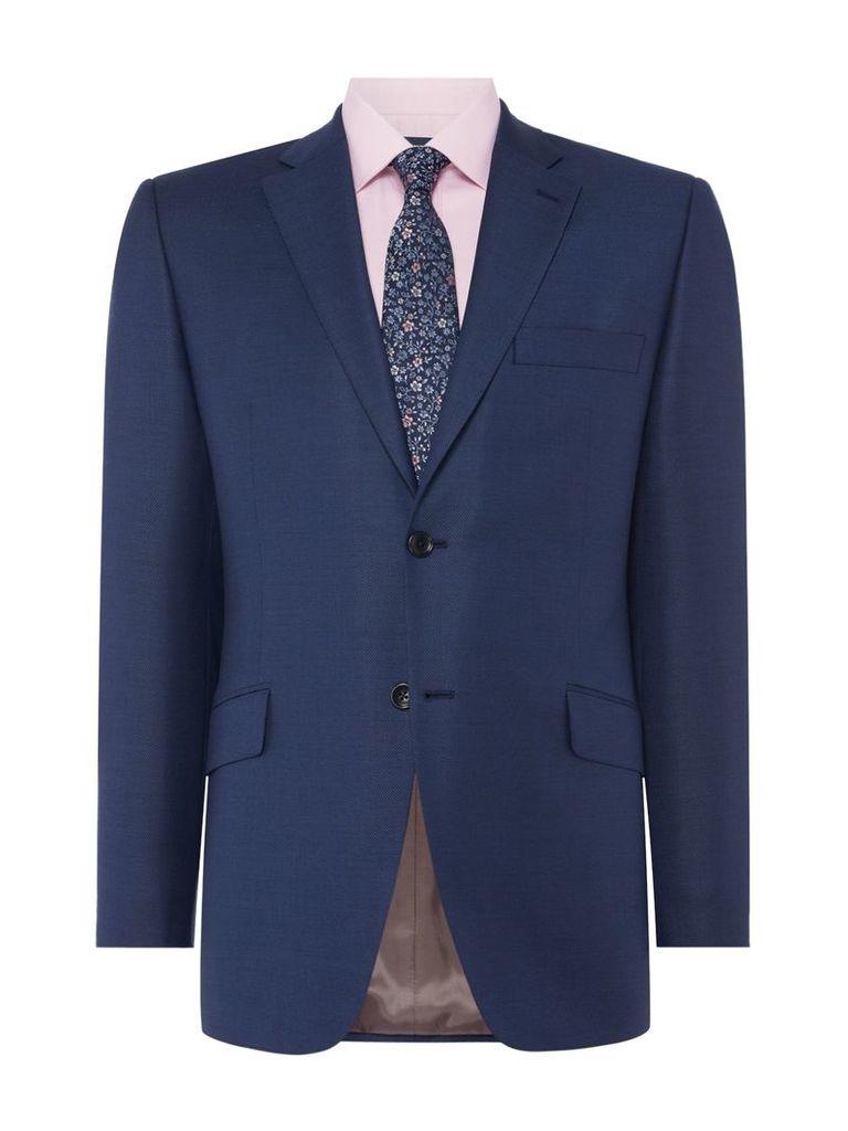 Men's Howick Tailored Borden Notch Lapel Textured Suit Jacket, Blue