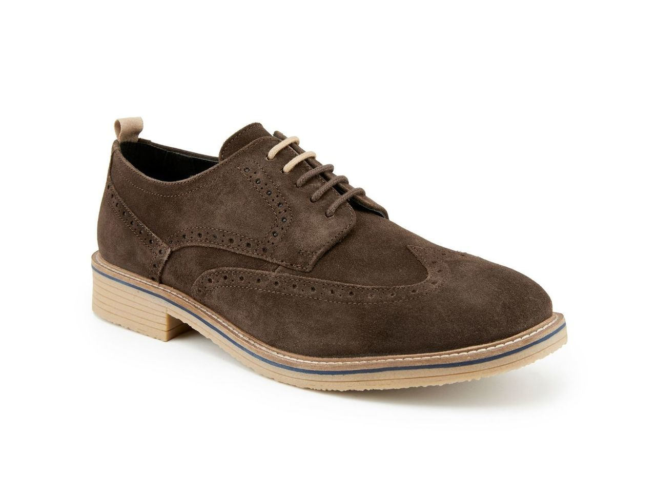 Skopes Suede Brogue Shoes, Brown