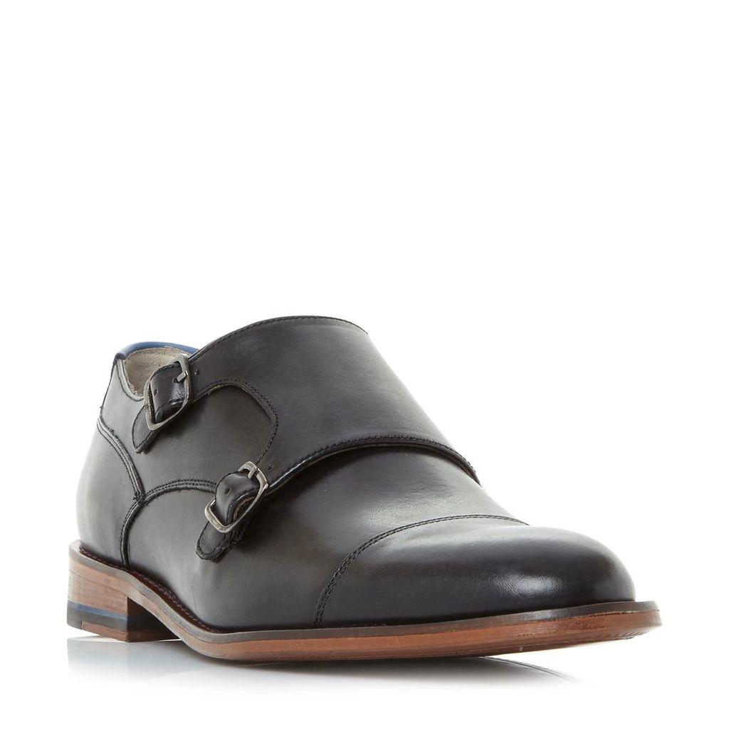 Oliver Sweeney Marston Double Buckle Monk Shoes, Black
