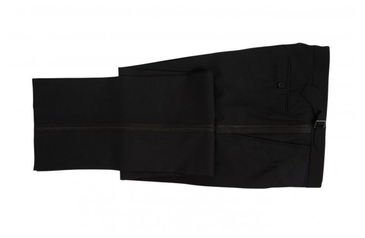 Men's Chester Barrie Classic Dinner Suit Trousers, Black