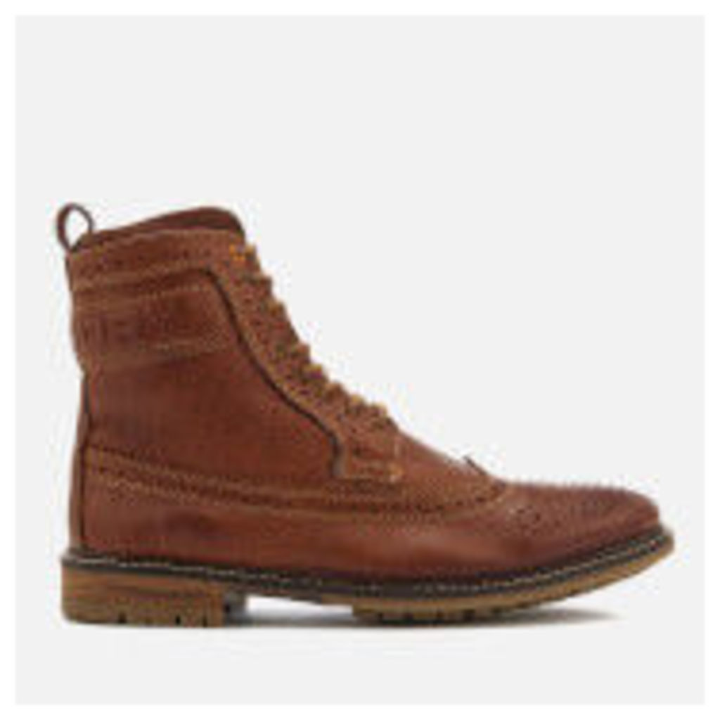 Superdry Men's Brad Brogue Boots - Tan Leather