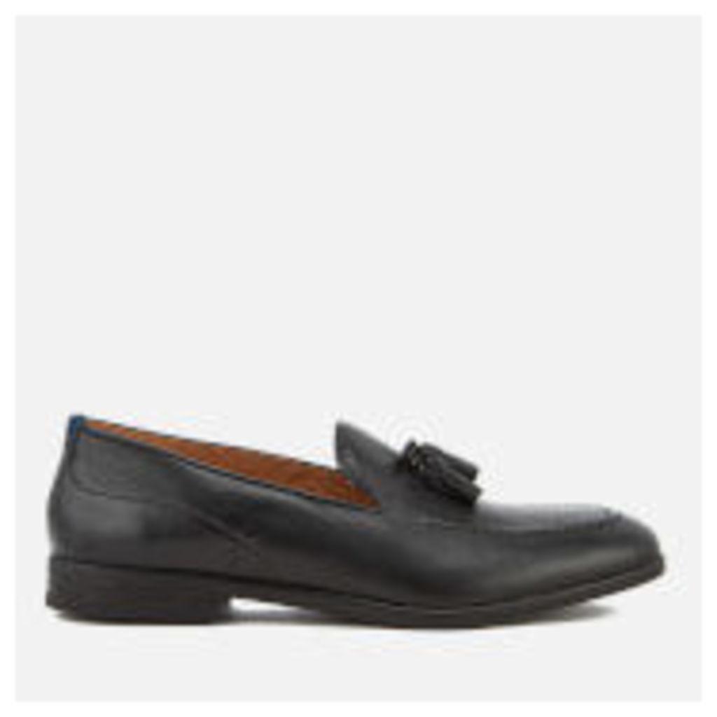 Hudson London Men's Dickson Leather Tassel Loafers - Black