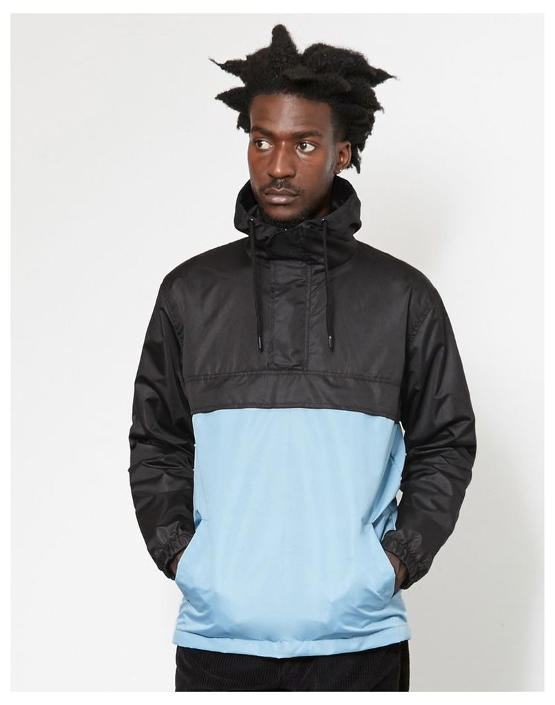 The Idle Man Overhead Pullover Jacket Black & Blue