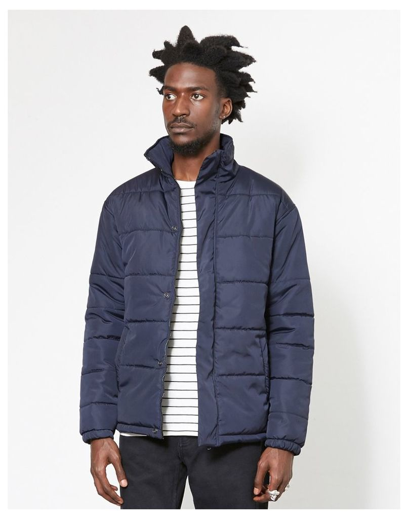 The Idle Man Puffer Jacket Navy