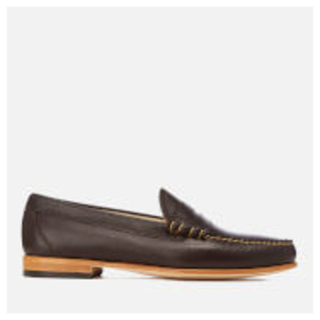 Bass Weejuns Men's Palm Springs Larson Mon Leather Penny Loafers - Dark Brown