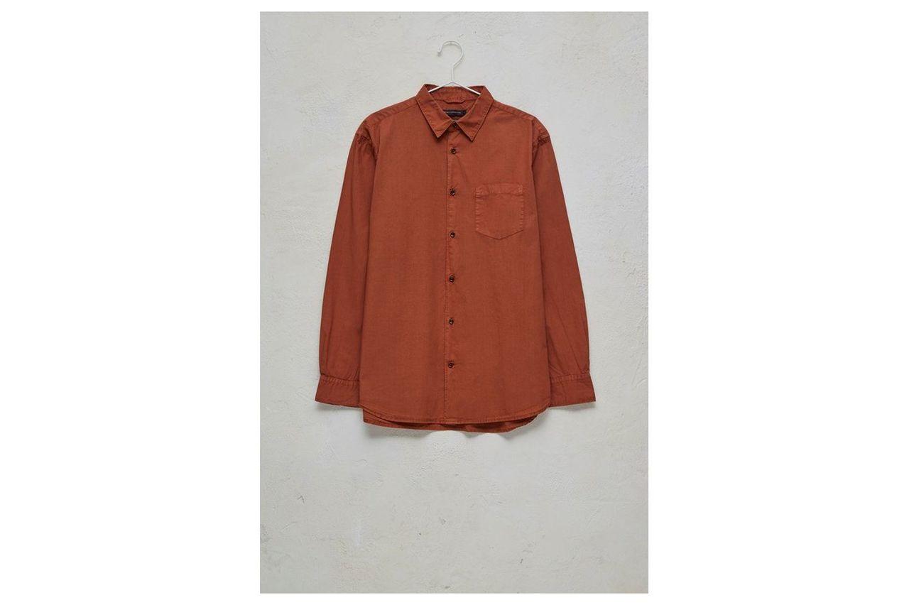 Garment Dye Poplin Shirt - ginger bread