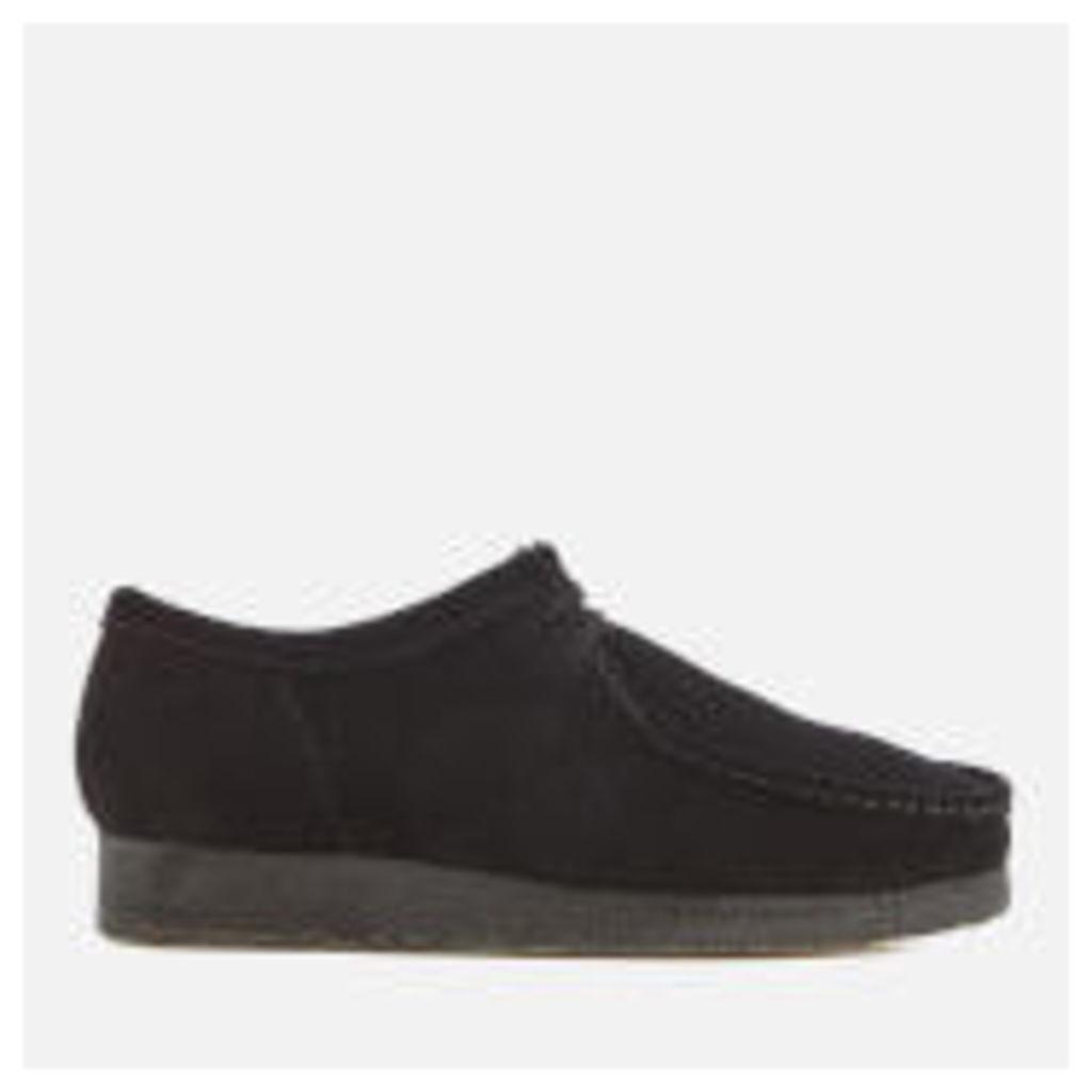 Clarks Originals Men's Wallabee Suede Shoes - Black