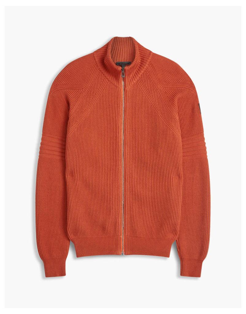 Belstaff Tivington Knit Zip Cardigan Orange