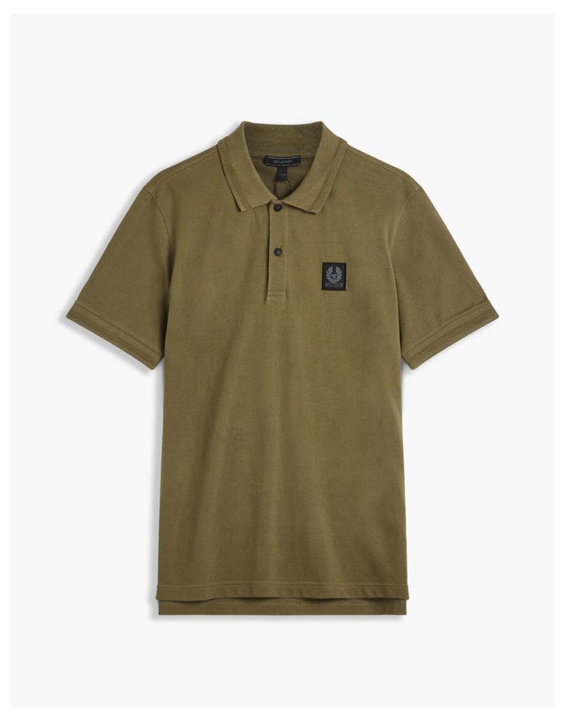 Belstaff Stannett Short Sleeve Polo Green
