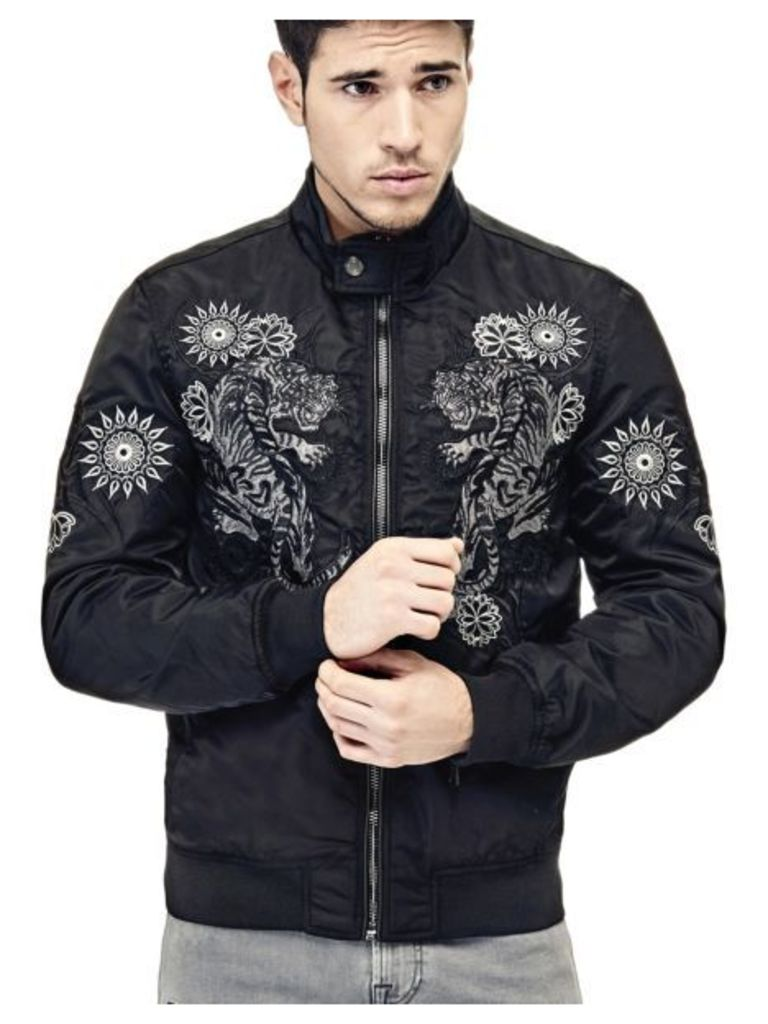 Guess Bomber With Embroidery On The Front