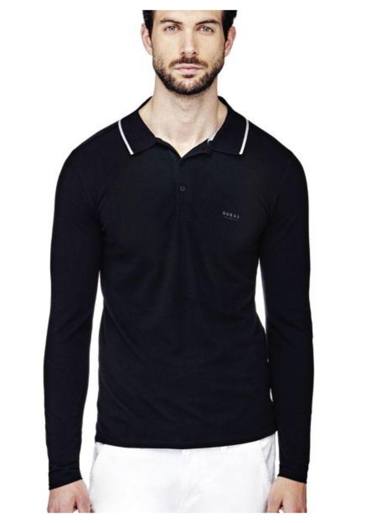 Guess Long-Sleeve Polo Shirt
