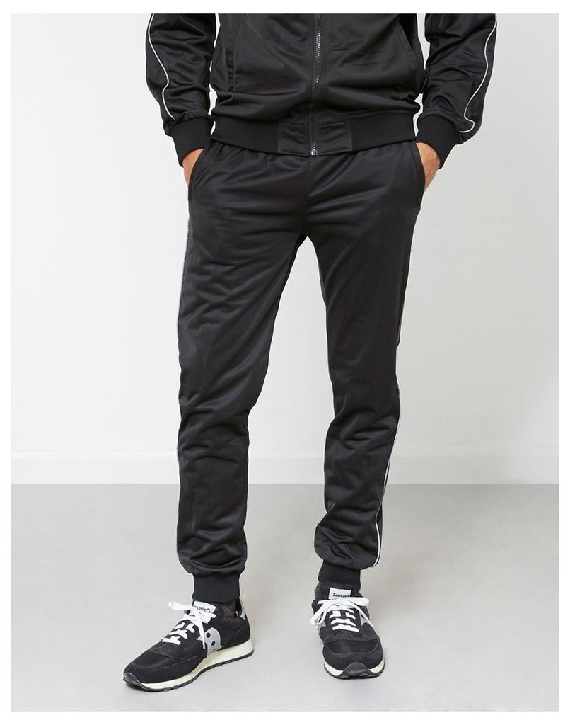 The Idle Man Track Pants Black
