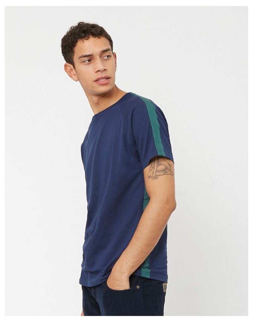 The Idle Man Taped Seam T-Shirt Navy