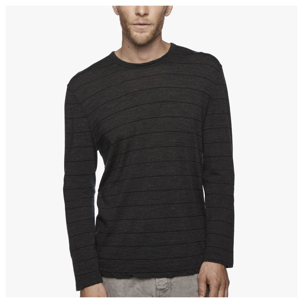 WASHABLE WOOL STRIPED JERSEY TEE