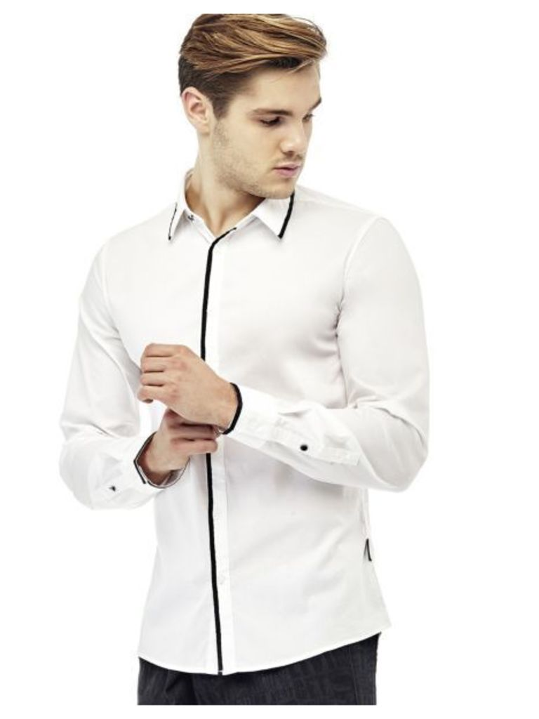 Guess Shirt With Trim Detail