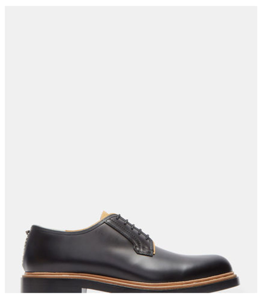 Raw Contrast Derby Shoes