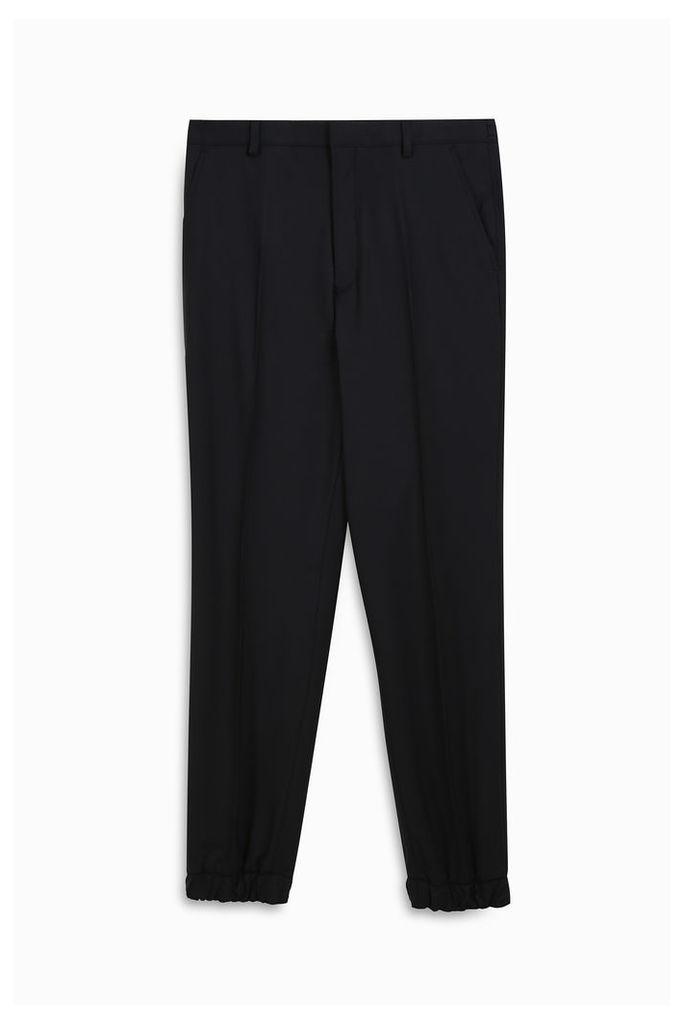 Kenzo Stretch Wool Cuffed Trousers