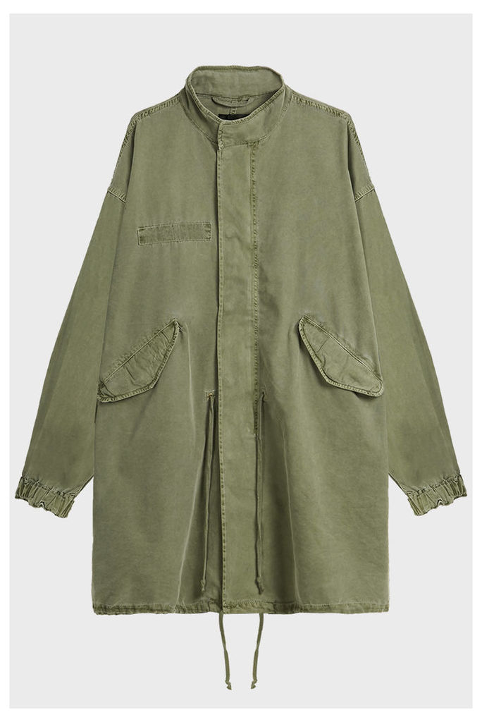 Rta Denim Faded Army Jacket
