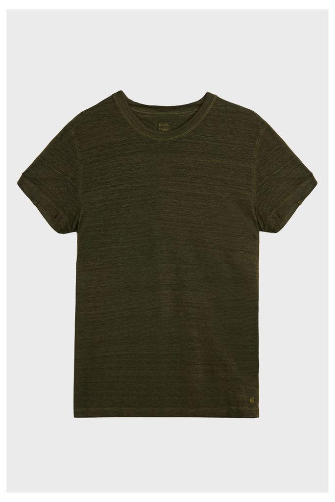 120% Lino Crew Neck Linen T-Shirt