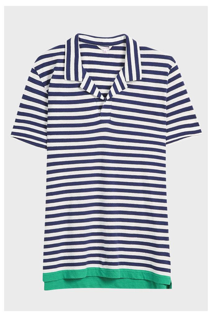 Orlebar Brown Felix Striped Cotton And Linen-Blend Polo Shirt
