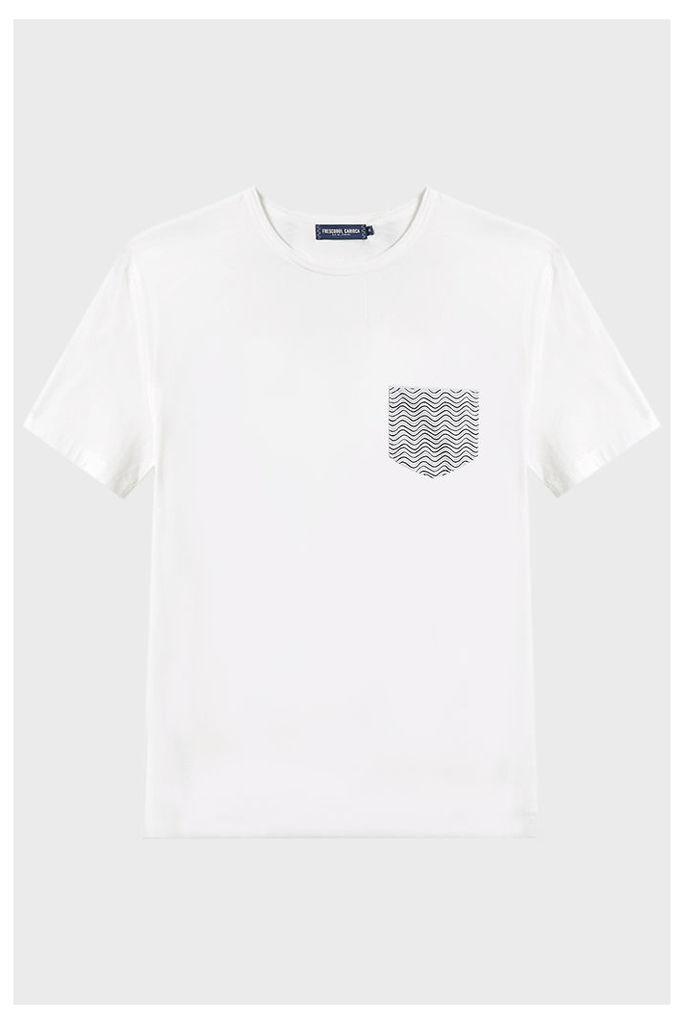 Frescobol Carioca Pocket Cotton T-Shirt