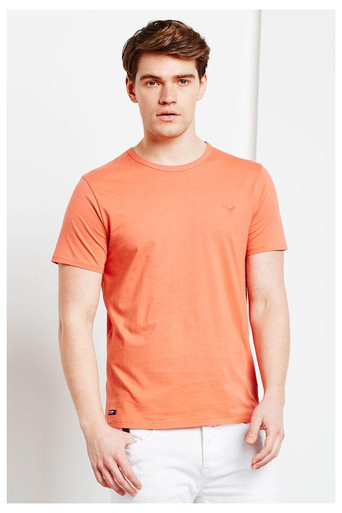 Threadbare William Basic Crew T Shirt  - Orange