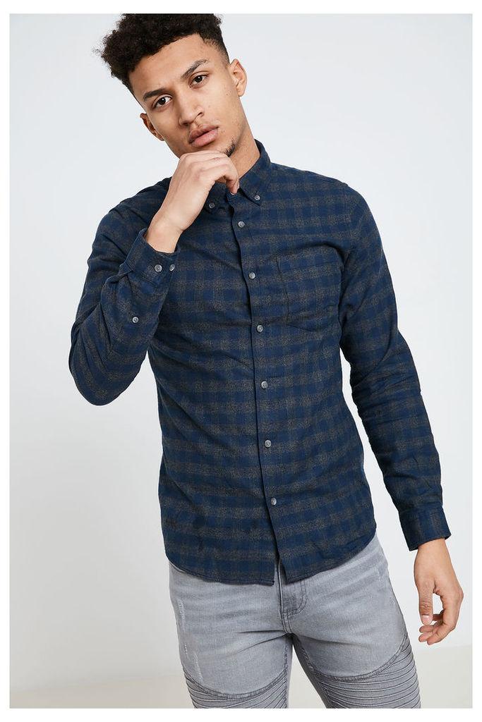 Jack & Jones Williams Long Sleeve Shirt - Navy