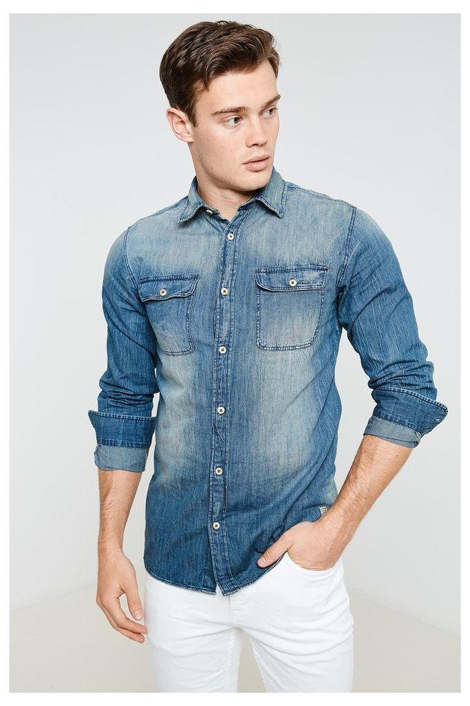 Jack & Jones Utility Long Sleeve Shirt - Blue
