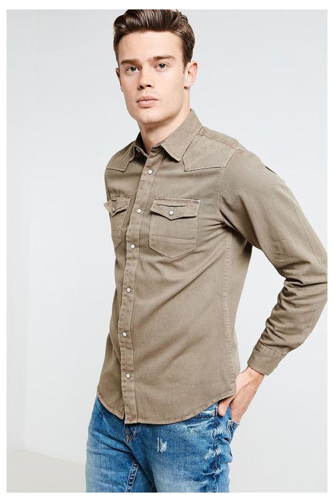 Jack & Jones Long Sleeve Western Shirt - Green