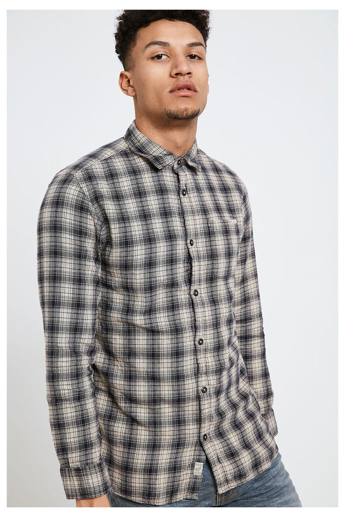 Jack & Jones Checked Shirt  - Grey
