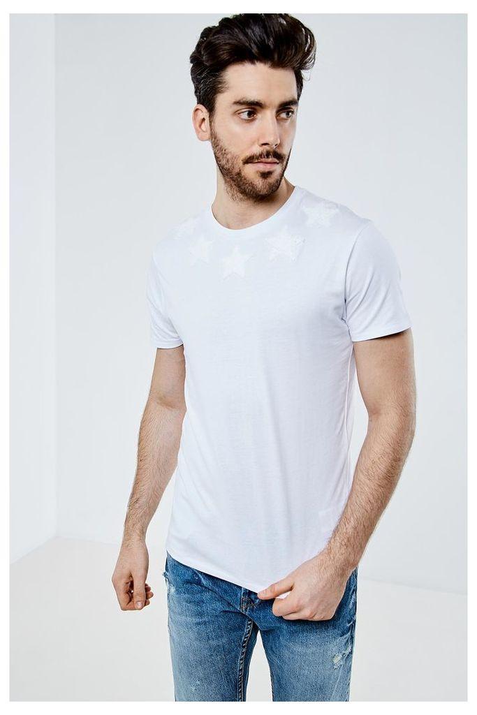 Threadbare Stars T-Shirt - White