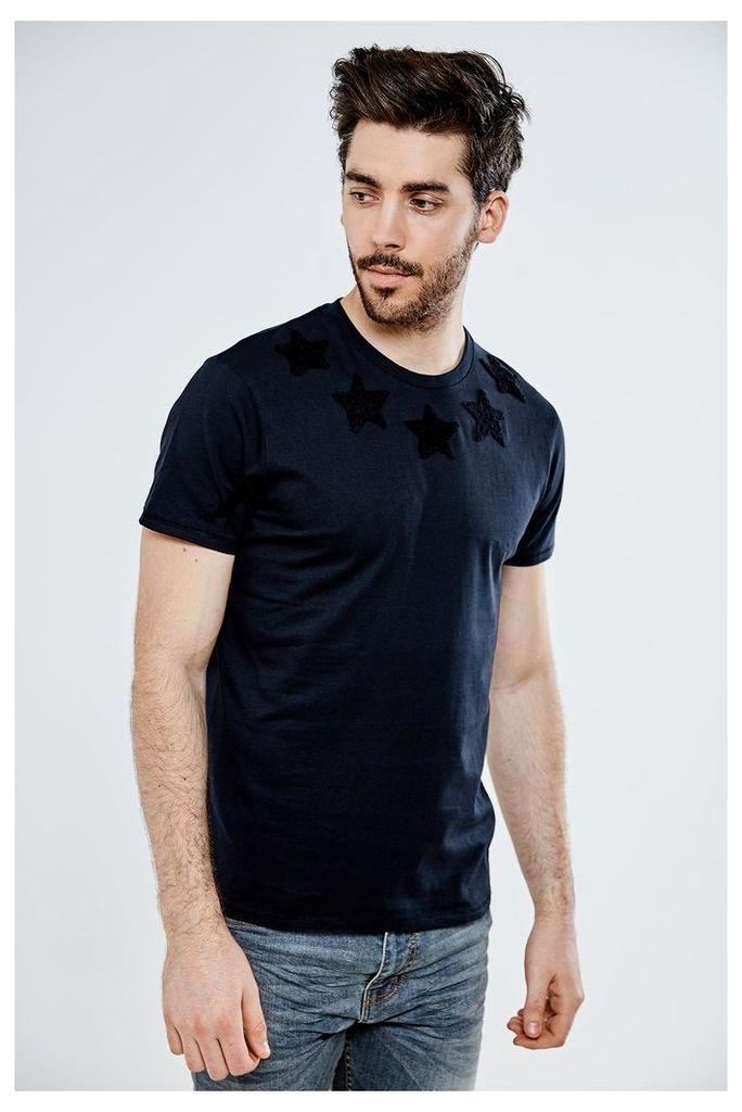Threadbare Stars T-Shirt - Black