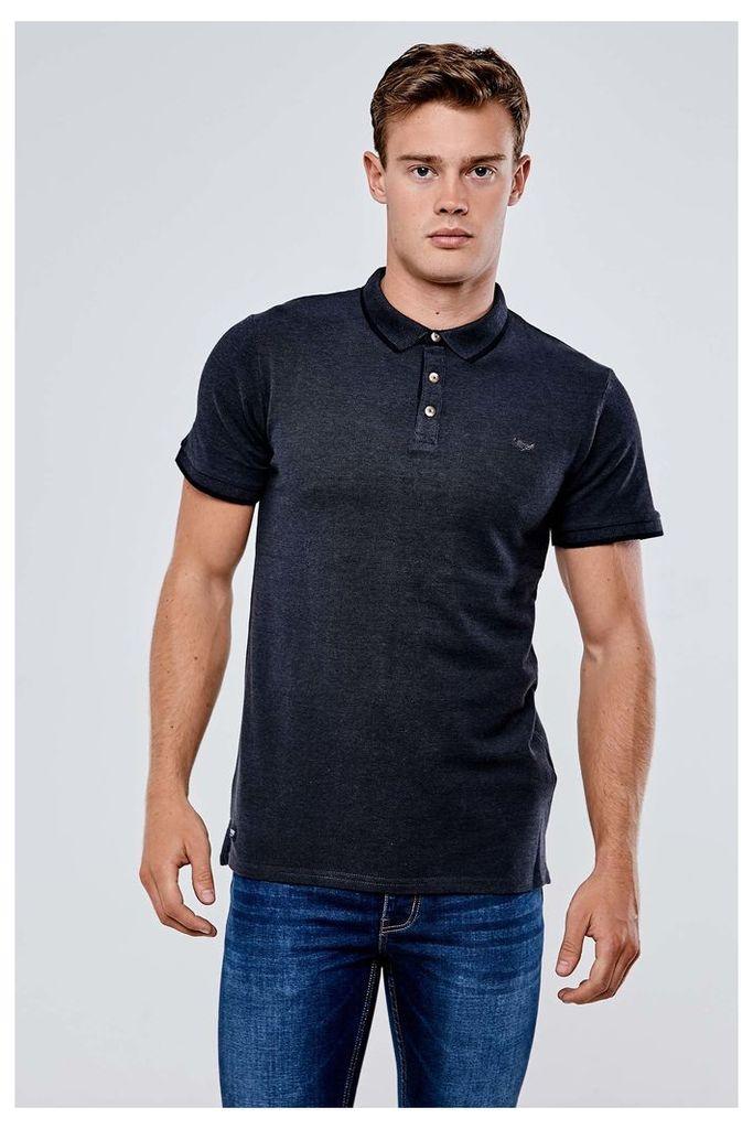 Threadbare Chesterfield Polo Shirt - Grey