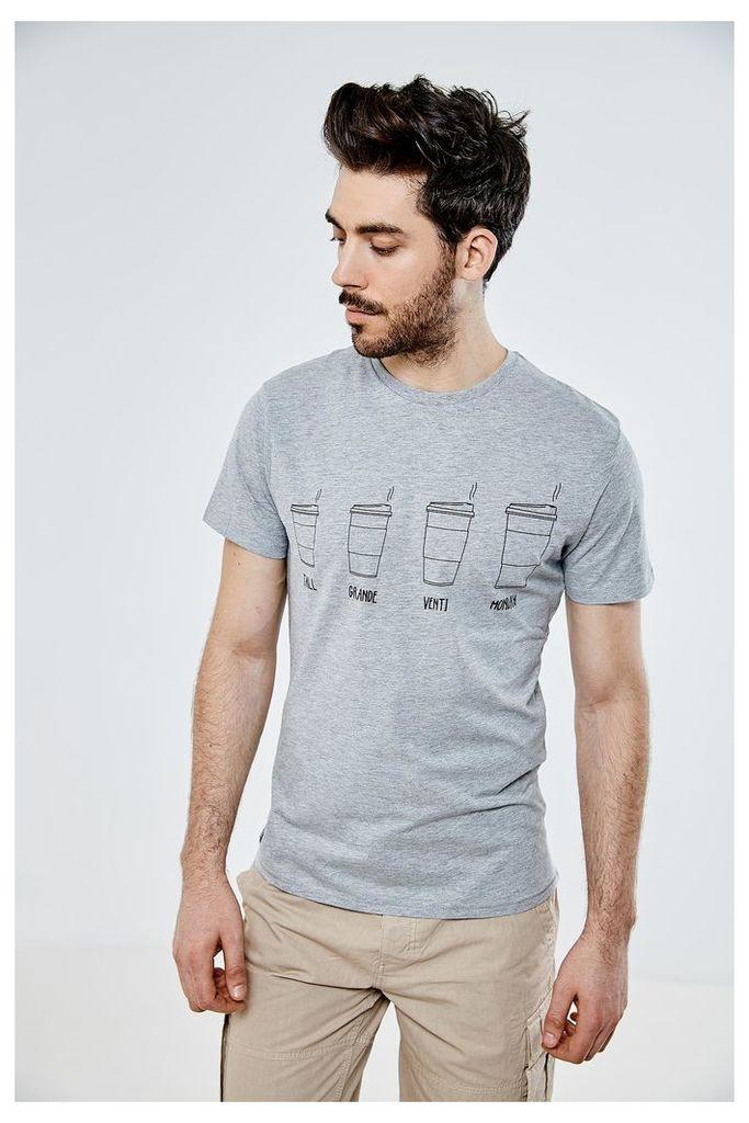 Threadbare Coffee T-Shirt - Grey