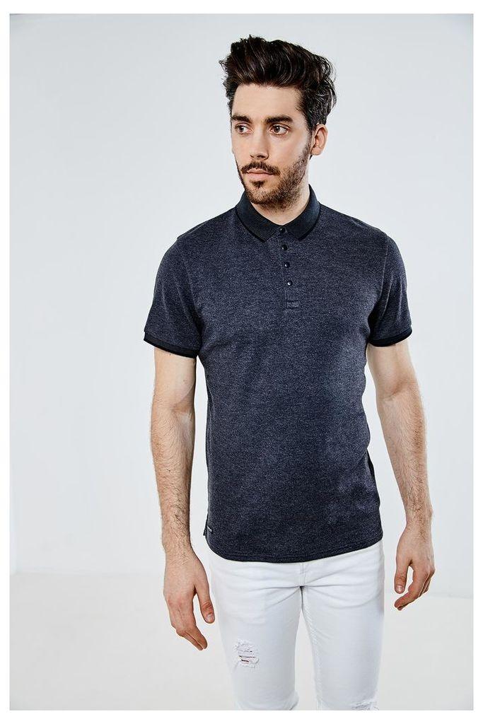 Threadbare River Polo Shirt - Grey